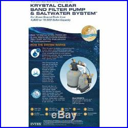 Intex 120V Krystal Clear Sand Filter Pump & Saltwater System CG-28679 with E. C. O