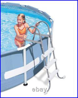 Intex 12 Foot Prism Frame Above Ground Swimming Pool with Pump & Pool Ladder