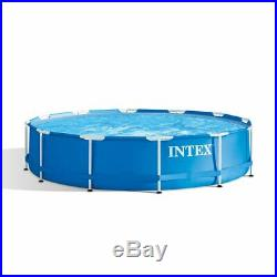 Intex 12 Foot x 30 Inch Above Ground Swimming Pool with Cartridge Filter Pump