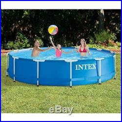 Intex 12 Foot x 30 Inches Metal Frame Pool, Pump Not Included (Open Box)