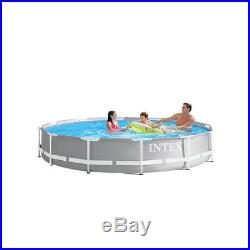 Intex 12 Foot x 30 Inches Prism Frame Above Ground Pool with 530 GPH Filter Pump