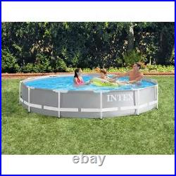 Intex 12 Foot x 30 Inches Prism Frame Above Ground Pool with 530 GPH Pump (Used)