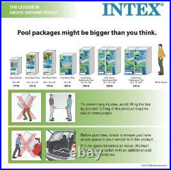 Intex 12' x 30 Metal Frame Round Above Ground Swimming Pool with Filter Pump