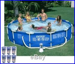 Intex 12foot x 30inch Metal Frame Set Swimming Pool with 530 GPH Pump and Filter
