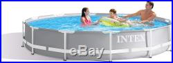 Intex 12ft X 30in Prism Frame Swimming Pool Set with Filter Pump 6711EH