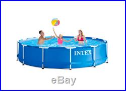 Intex 12ft x 30ft Metal Frame Above Ground Pool with Filter Pump
