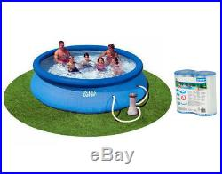 Intex 12ft x 30in Easy Set Pool with 530 GPH Pump & (2 Pack) Filter Cartridge