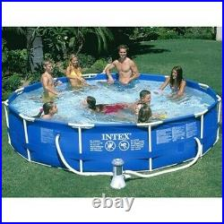 Intex 12ft x 30in Metal Frame Round Swimming Pool Set Pump & Filter Included