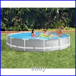Intex 12ft x 30in Prism Metal Frame Above Ground Pool (No Pump) (For Parts)