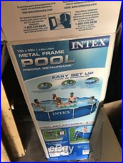 Intex 13 ft x 19in Metal Frame Above Ground Swimming Pool + Filter Pump