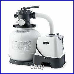 Intex 14 Inch Krystal Clear Pool Saltwater System and Sand Filter Pump(Open Box)