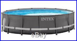 Intex 14' X 42 Ultra Frame Above Ground Swimming Pool WithLadder, Pump, etc