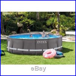Intex 14' x 42 Ultra Frame Above Ground Swimming Pool with Ladder & Pump (Used)