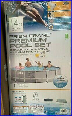 Intex 14ft X 42 Prism Frame Swimming Pool Set With Filter, Pump, Ladder & Cover