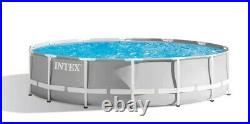 Intex 14ft x 42in Prism Frame Above Ground Pool Set+ Pump, Ladder, Cover