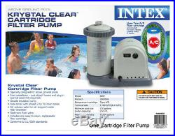 Intex 1500 GPH Easy Set Pool Pump Filter Cartridge with Timer & GFCI + Filters