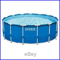 Intex 15 Feet x 48 Inches Metal Frame Pool Set with Ladde and Pump (Open Box)