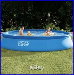 Intex 15 ft x 33 in Easy Set Inflatable Swimming Pool with 530 GPH Filter Pump