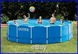 Intex 15'x48 Metal Frame Round Swimming Pool Above Ground Kit with Filter Pump