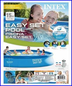 Intex 15' x 33 Easy Set Swimming Pool with 530 GFCI GPH Filter Pump 28157EH