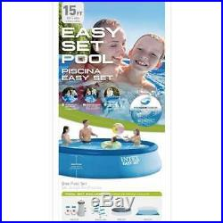 Intex 15' x 42 Inflatable Above Ground Swimming Pool with Ladder & Pump (Used)