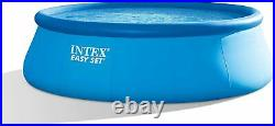 Intex 15' x 48 Easy Set Pool with Filter Pump, Ladder, Ground Cloth & Pool 26167E