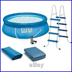Intex 15' x 48 Inflatable Easy Set Swimming Pool with Ladder & Pump FREE SHIPPING