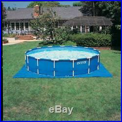Intex 15' x 48 Metal Frame Above Ground Pool Set with Pump Cover&Ladder(Open Box)