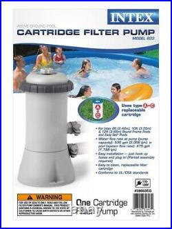 Intex 15foot x 33footfoot Easy Set Above Ground Swimming Pool with Filter Pump
