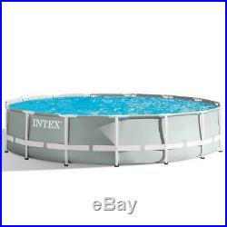 Intex 15ft (4.6m) swimming pool family with Filter Pump and Ladder garden patio