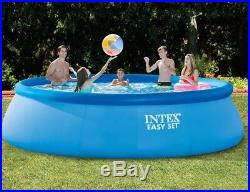 Intex 15ft X 42in Easy Set Pool Set with Filter Pump, Ladder, Ground Cloth & Poo