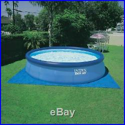 Intex 15ft X 42in Easy Set Pool with Filter Pump Ladder, Ground Cloth, and Cover