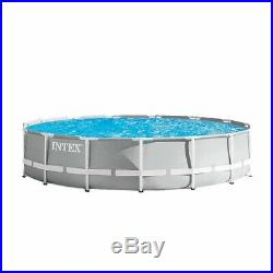 Intex 15ft X 42in Prism Frame Pool Set with Filter Pump Ladder Ground Cloth and