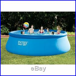 Intex 15ft X 48in Easy Set Pool Set with Filter Pump, Ladder, Ground Cloth &
