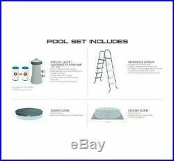 Intex 15ft X 48in Prism Frame Pool With Cover, Pump, Ladder, Cloth, Filter