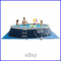 Intex 15ft x 42in Easy Set Inflatable Swimming Pool with Ladder, Pump (Used)