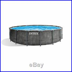 Intex 15ft x 48in Greywood Prism Steel Frame Pool Set with Cover, Ladder, & Pump