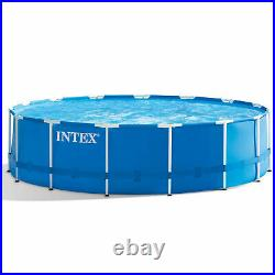 Intex 15ft x 48in Metal Frame Above Ground Pool Set with Pump, Cover & Ladder