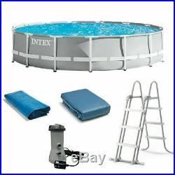 Intex 15ft x 48in Prism Frame Swimming Pool with Pump Ladder Cover SHIPS TODAY