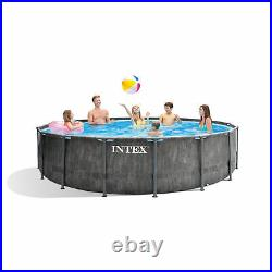 Intex 15ft x 48in Prism Steel Frame Pool Set with Cover, Ladder & Pump(Open Box)