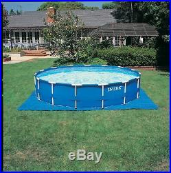 Intex 15x48 Metal Frame Round Swimming Pool Above Ground Kit with Filter Pump