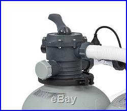 Intex 1600 GPH Saltwater System & Sand Filter Pump Set for Above Ground Pools