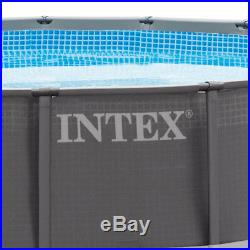 Intex 16' x 48 Ultra Frame Above Ground Swimming Pool Set with Ladder & Pump