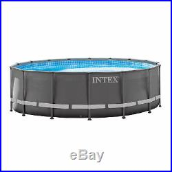 Intex 16' x 48 Ultra Frame Swimming Pool with 1200 GPH Sand Filter Pump & Ladder