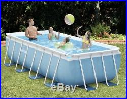 Intex 16' x 8' x 42 Prism Rectangular Pool With Ladder, Filter Pump, & Cover