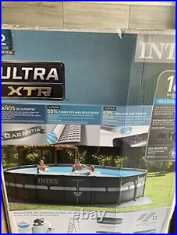 Intex 18Ft X 52In Ultra Frame Above Ground Pool Set with Sand Filter Pump