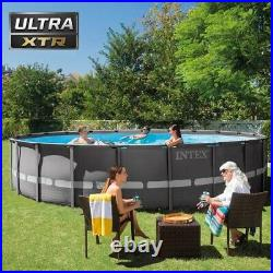 Intex 18Ft x 52In Ultra XTR Frame Round Swimming Pool With Pump, ladder, & Cover