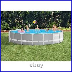 Intex 18 Foot x 48 Inch Prism Frame Above Ground Pool Set with Pump (Used)