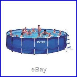Intex 18'x48 Metal Frame Above Ground Pool Set with Pump Ladder Cover (Open Box)