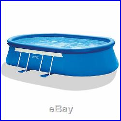 Intex 18' x 10' x 42 Oval Frame Above Ground Swimming Pool with Filter Pump
